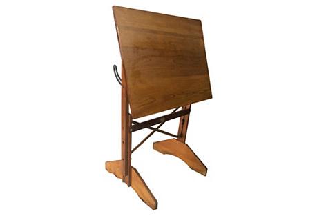 Oak Drafting Table & Desk