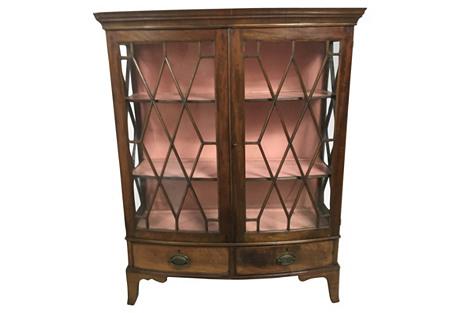 Antique English Walnut Bookcase, C. 1880