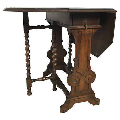 English Barley-Twist Gateleg Table