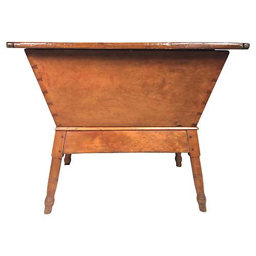 18th-C. New England Dough Box Table