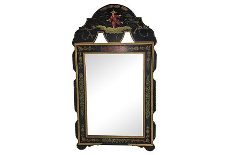 Italian Chinoiserie Painted Mirror