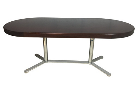 Mid-Century Modern Chrome Desk