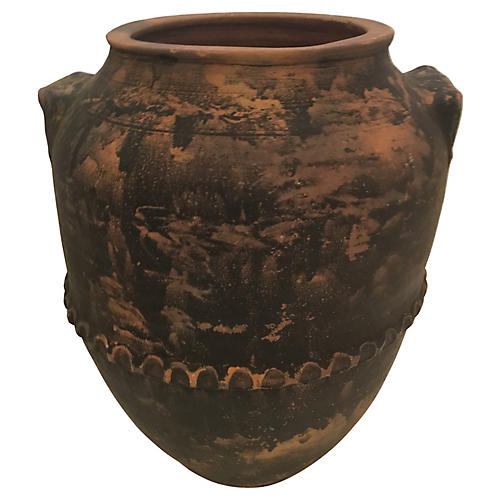 Country French Terra Cotta Confit Pot