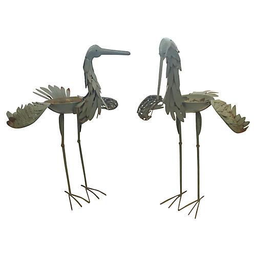 1940s English Garden Cranes, S/2