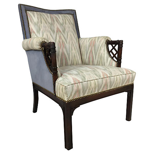 Chinese Chippendale Faux-Bamboo Chair