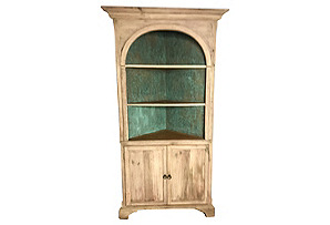 Bleached Pine Corner Cabinet