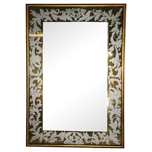Italian Églomisé Mirror