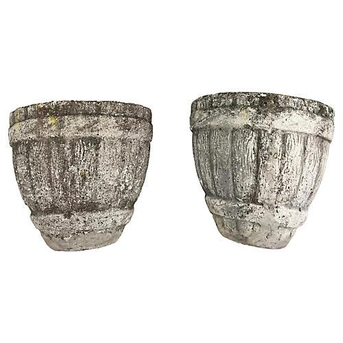 English Barrel Wall Pockets, S/2