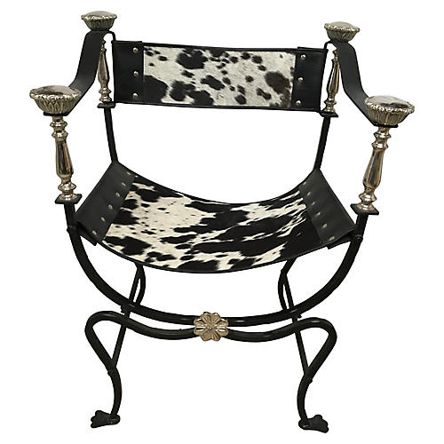 Italian Campaign-Style Chair