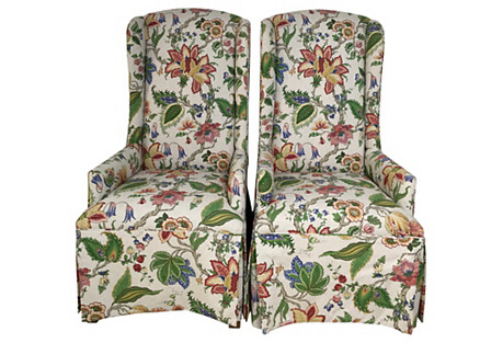 Parsons-Style Chairs, Pair