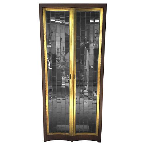 Heritage Modern Brass & Glass Cabinet