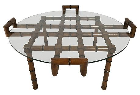 Modern Faux-Bamboo Coffee Table