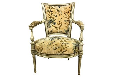Antique French Chair in Velvet