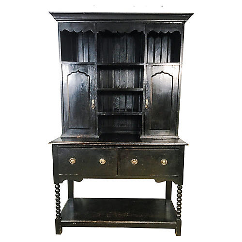 19th C. Bobbin Twist Welsh Hutch