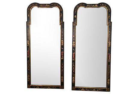 1960s Italian Chinoiserie Mirrors, Pair