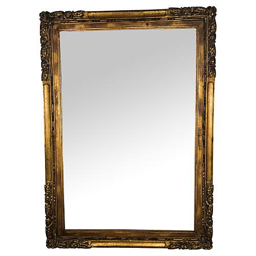 19th-C. French Giltwood Mirror