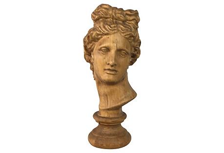 Hand-Carved Italian Bust