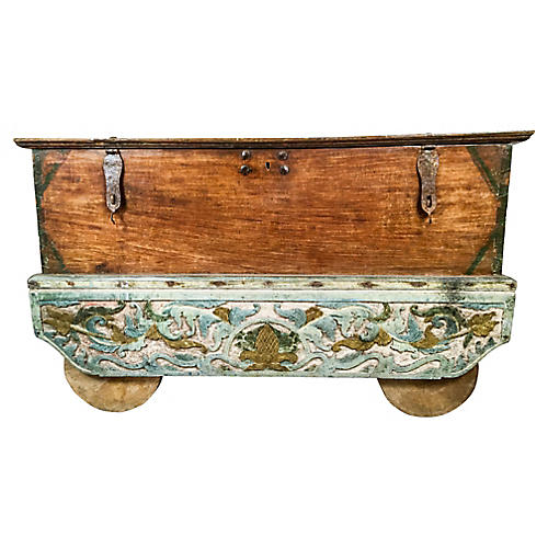 Antique Asian Chest on Wheels