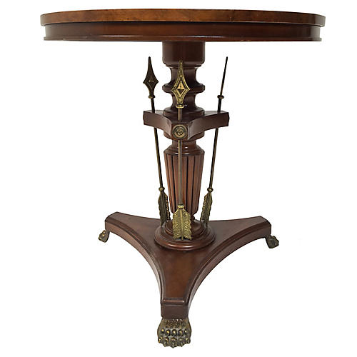 Burl Wood Neo-Classical Style Table