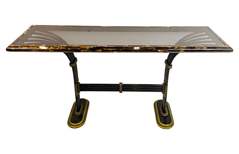 Maitland smith brands one kings lane maitland smith horn brass console table gumiabroncs Image collections