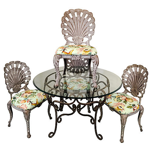 Grotto Style Patio Dining Set,S/5