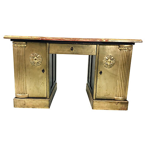 French Gilt Neo-Classical Style Desk