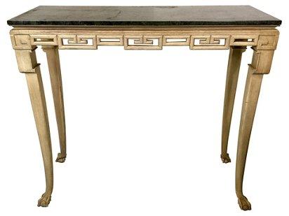 Italian Greek Key Tall Console Table