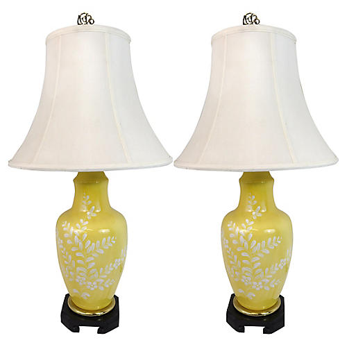 Asian Style Frederick Cooper Lamps,Pair