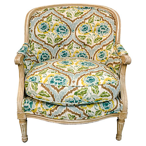 1960s French Style Bergere Chair
