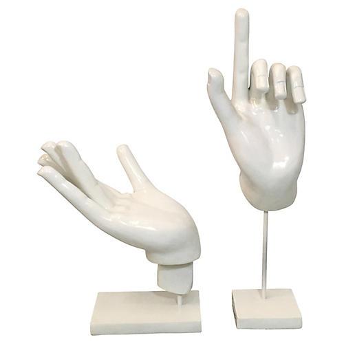1960s Hand Sculptures, S/2