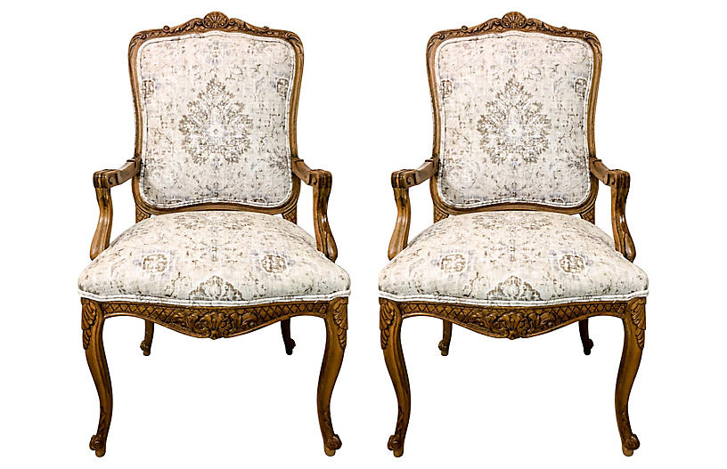 French Style Armchairs,Pair