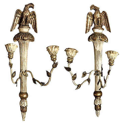 Italian Federal Style Sconces, Pair