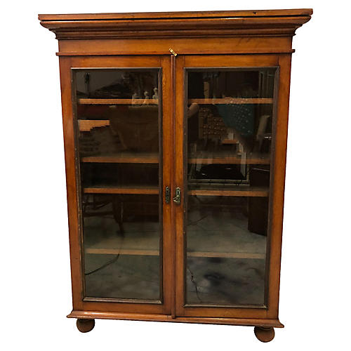 Antique English Mahogany Bookcase