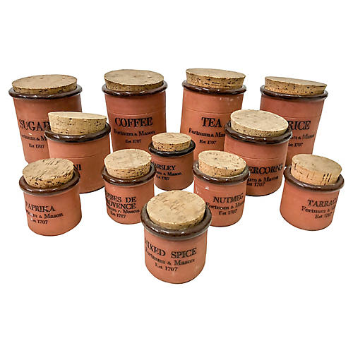 English Fortnum & Mason Cannister Set,12