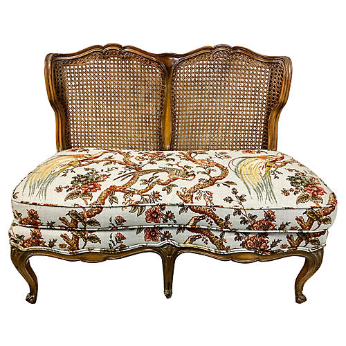 French Style Caned Settee