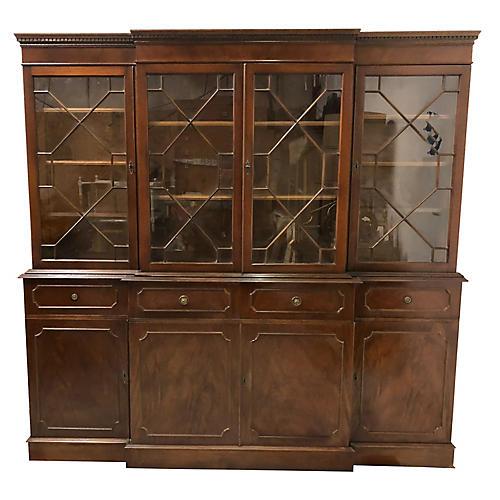 1940s English Mahogany Library Cabinet