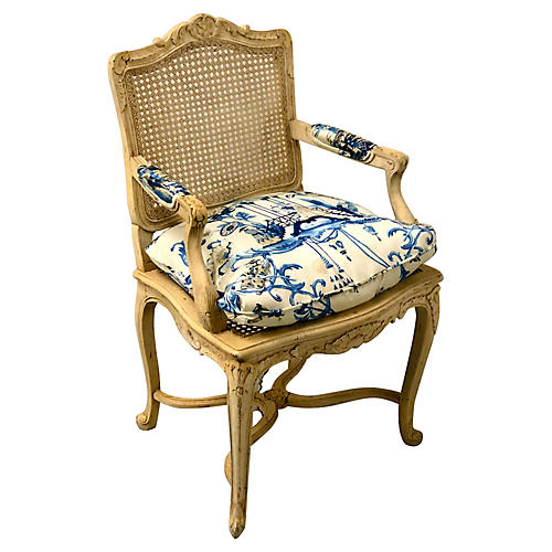 Chinoiserie Caned Armchair