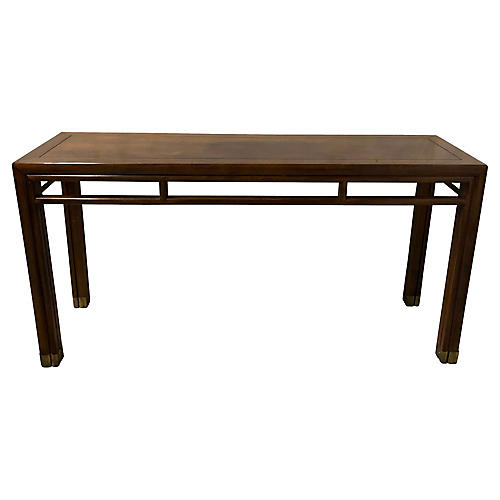 Henredon Campaign Style Console Table