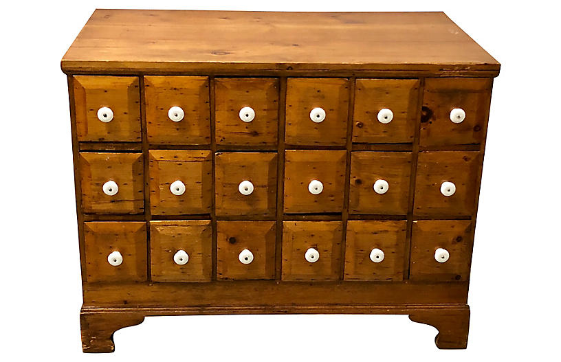 19th-C. Apothecary Cabinet
