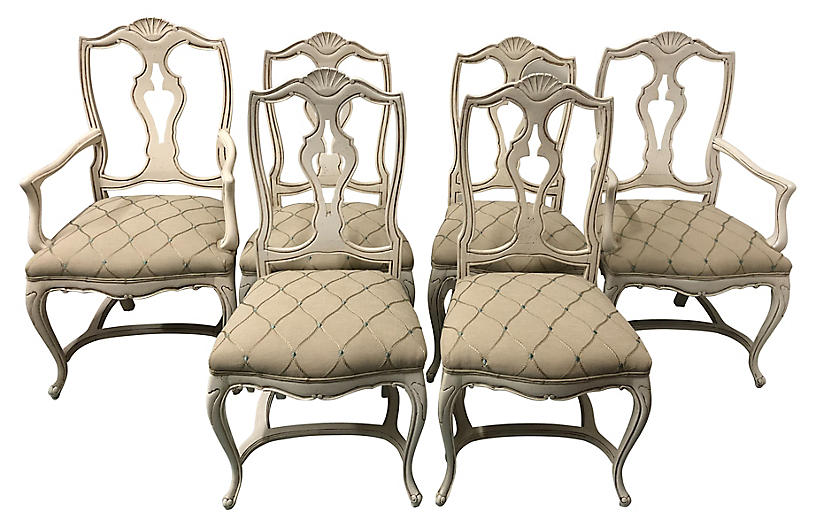 French Style Dining Chairs,S/6
