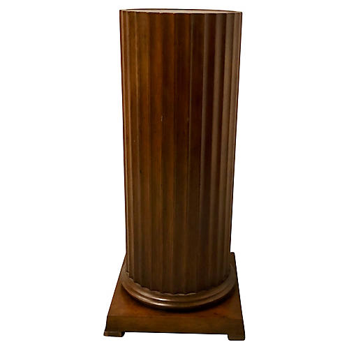 Baker Furniture Walnut Pedestal