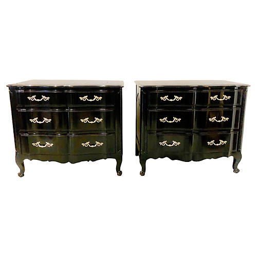 French Style Davis Furniture Chests,Pair