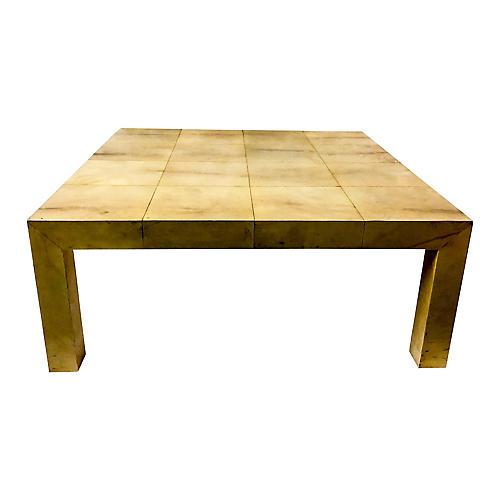Karl Springer Goatskin Coffee Table