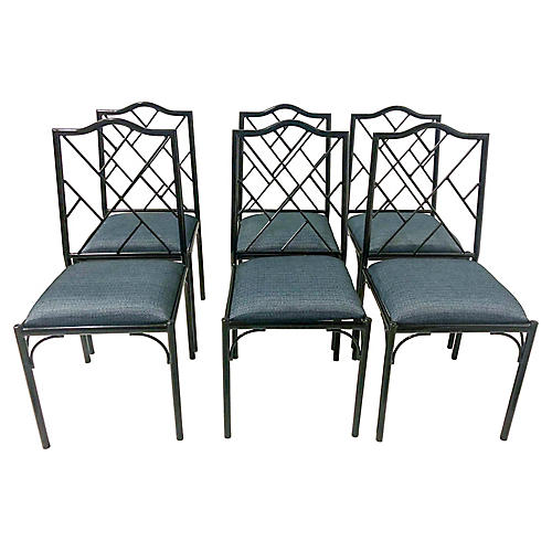 Chippendale Style Dining Chairs,S/6