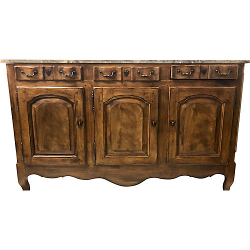 Heritage French Style Marble Top Buffet