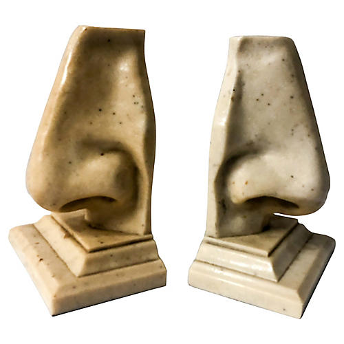 Modern Nose Bookends
