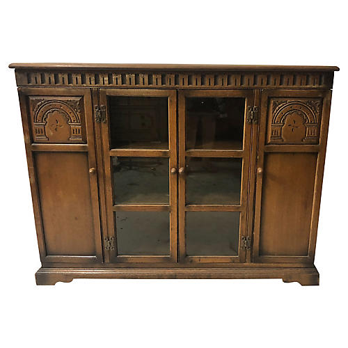 Antique English Oak Bookcase