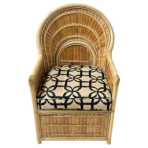 Split Bamboo Chair in Linen
