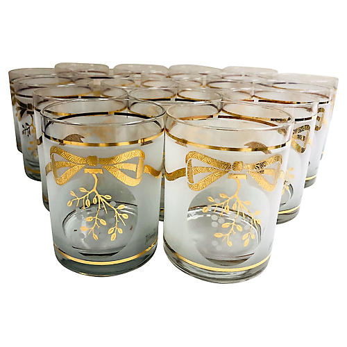 Neiman Marcus Christmas Cocktail Glasses