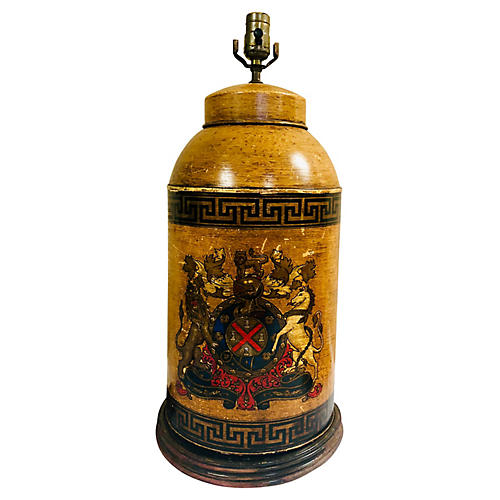English Canister-Style Lamp
